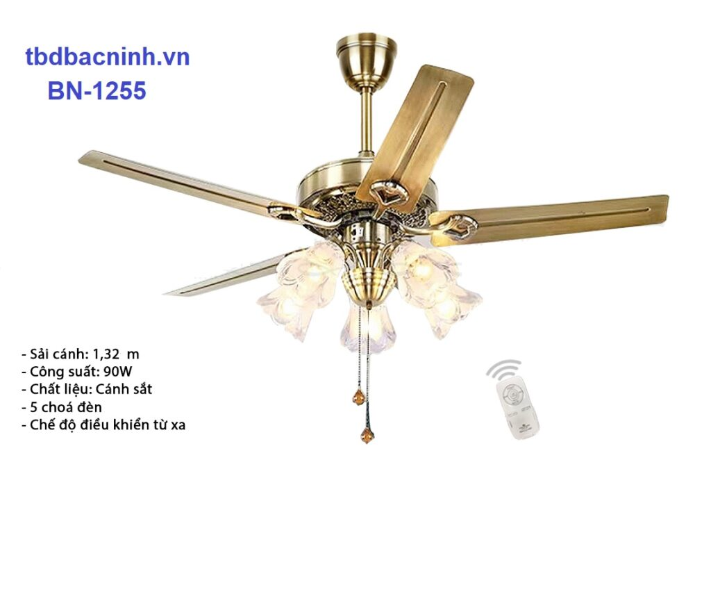 Quạt trần đèn trang trí BN-1255