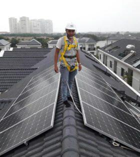 hệ thống điện mặt trời hòa lưới 5kw hộ gia đình