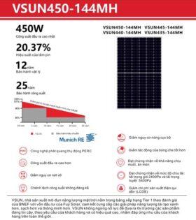Tấm pin năng lượng mặt trời 440W vsun