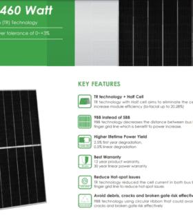 tấm pin năng lượng mặt trời 460w jinko solar