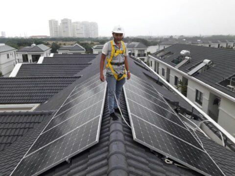 lắp đặt điện mặt trời mái nhà
