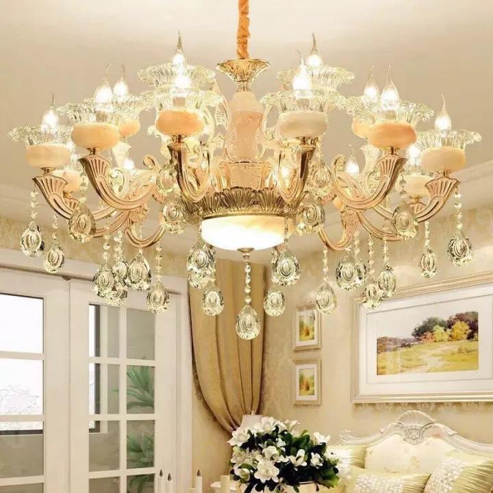 đèn chùm phòng khách 15 tay hiện đại