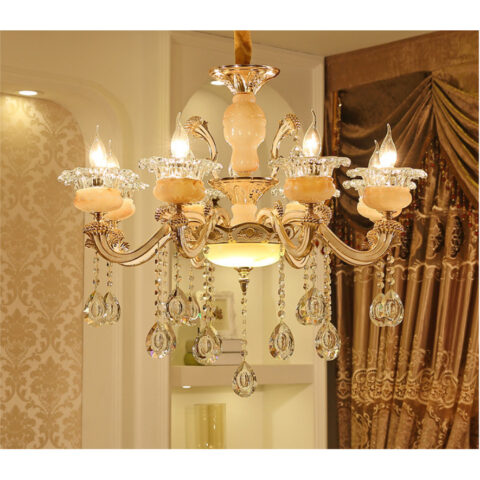đèn chùm phòng khách 6 tay hiện đại giá rẻ