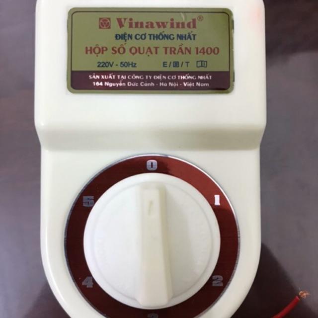 hộp số quạt trần điện cơ thống nhất vinawind qt1400-s cánh sắt