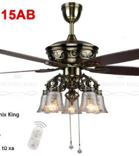 Quạt trần đèn chùm QT-2315AB