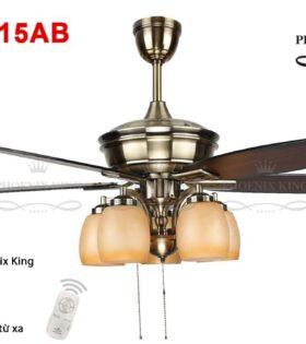 Quạt trần đèn chùm phòng khách QT-24515AB